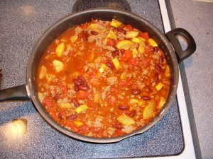 Veronica's Down and Dirty Chili with Squash